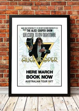 Alice Cooper 'Welcome To My Nightmare' Australian Tour 1977