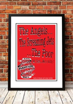 Angels (Angel City) / Screaming Jets / The Poor 'The Barb Wire Ball' Australian Tour 1995