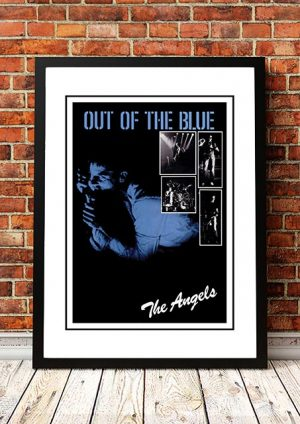 Angels (Angel City) 'Out Of The Blue' EP Promo Poster 1979