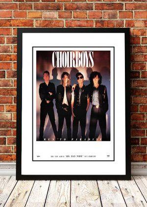 Choirboys 'Big Bad Noise' Australian Tour Poster 1988