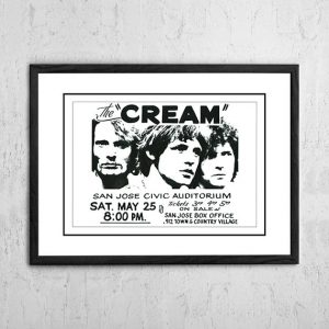 Cream (Eric Clapton) 'Civic Auditorium' San Jose, USA 1968