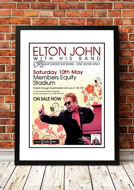 Elton John 'A Knight Under The Stars' 2008 | Band & Concert Posters!