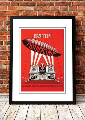 Led Zeppelin 'Mothership' In Store Poster 2007