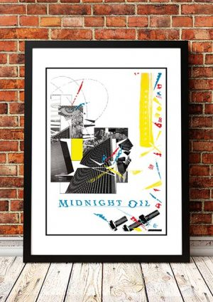 Midnight Oil '10 To 1′ In Store' Poster 1982