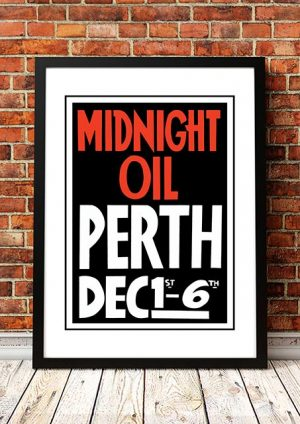 Midnight Oil 'Perth Gig Poster' Australia 1980