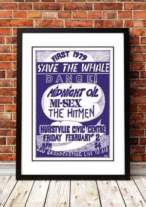 Midnight Oil / Mi-Sex / The Hitmen 'Hurstville Civic Centre' Sydney, Australia 1979