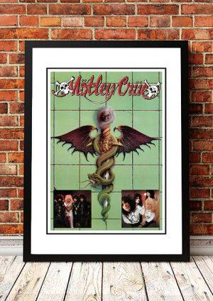 Motley Crue 'Dr Feelgood' Promo Poster 1989