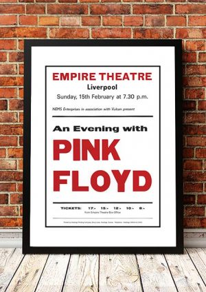 Pink Floyd 'Empire Theatre' Liverpool, UK 1974