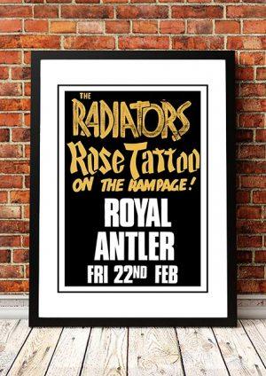 Rose Tattoo / Radiators 'Royal Antler' Sydney, Australia 1980