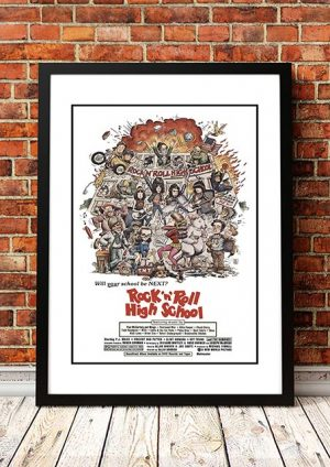 Ramones 'Rock 'n' Roll High School' Movie Poster 1979