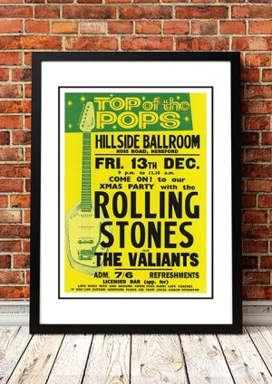 The Rolling Stones / The Valiants 'Hillside Ballroom' Hereford, UK 1963