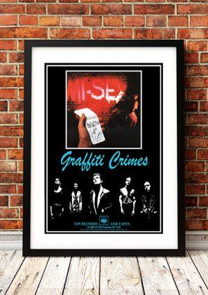 """Mi-Sex – """"Graffiti Crimes' In-Store Poster 1979"""