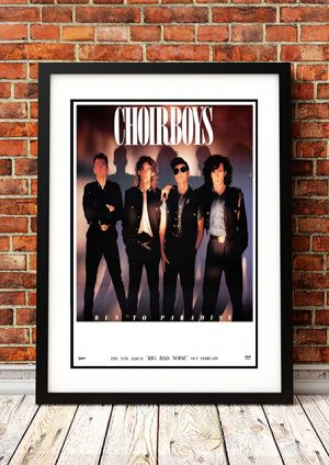 Choirboys – 'Big Bad Noise' Australian Tour Poster 1988