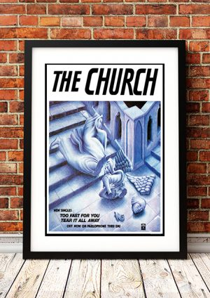Church – 'Too Fast For You' In-Store Poster 1982