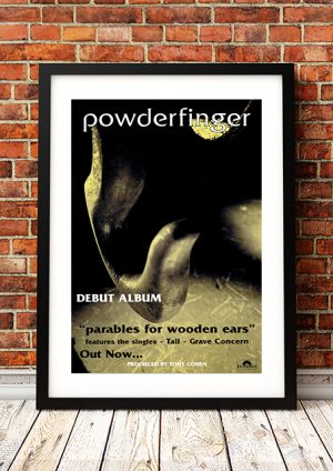 Powderfinger – 'Parables Of Wooden Ears' In-Store Poster 1994