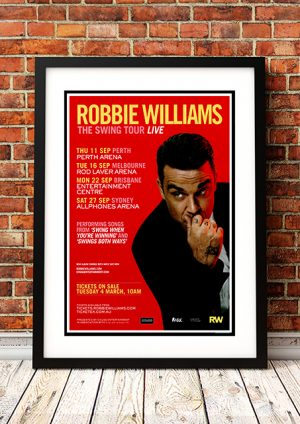 Robbie Williams – 'The Swing Tour Live' Australian Tour 2014