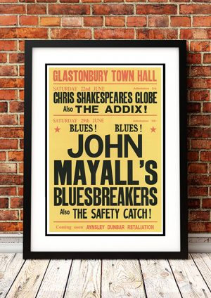 John Mayall's Bluesbreakers Glastonbury UK 1968