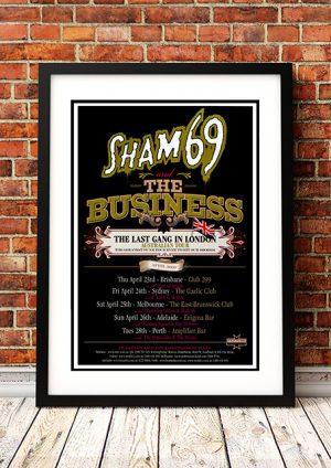 Sham 69 / The Business – 'The Last Gang In London' Australian Tour 2009