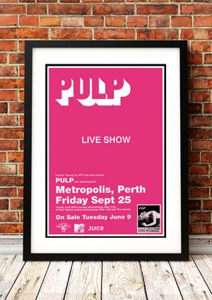 Pulp – 'This Is Hardcore' Perth Australia 1998
