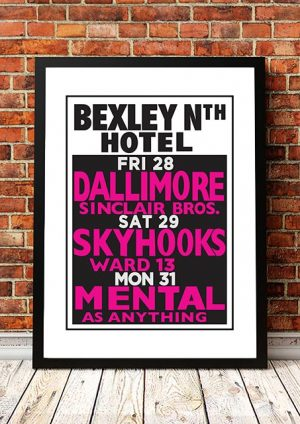 Skyhooks / Mental As Anything / Dallimore 'Bexley North Hotel' Sydney, Australia 1980