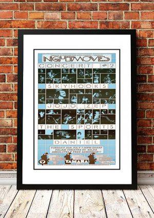 Skyhooks / Jo Jo Zep / The Sports 'Nightmoves' Melbourne, Australia 1980