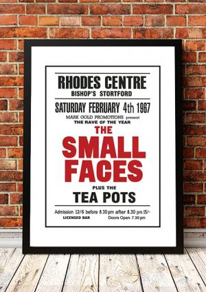 Small Faces / The Tea Pots 'Rhodes Centre' Bishops Stortford UK 1967