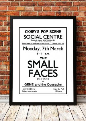 Small Faces / Gene And The Cossacks 'Social Centre' South Oxhey, UK 1965