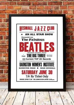 The Beatles / The Big Three 'Heswall Jazz Club' Wirral, UK 1962