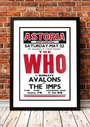 Who / Avalons / The Imps – 'Astoria' Rawtenstall UK 1966