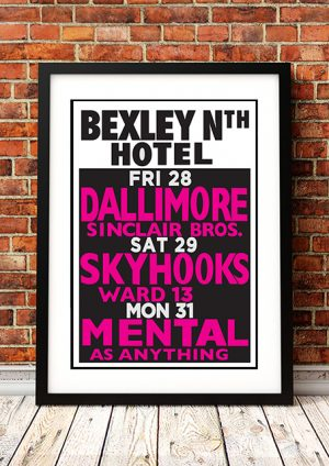 Skyhooks / Mental As Anything / Dallimore – 'Bexley North Hotel' Australia 1980