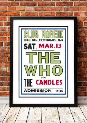 Who / The Candles – 'Club Noreik' London UK 1965