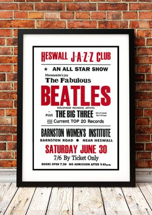 Beatles / The Big Three 'Heswall Jazz Club' – Wirral UK 1962