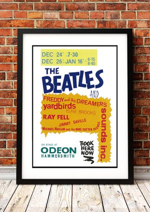 "Beatles / Freddy And The Dreamers / The Yardbirds ""Hammersmith Odeon' – London UK 1964"