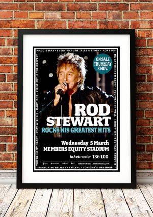 Rod Stewart 'Rocks His Greatest Hits' – Perth Australia 2008