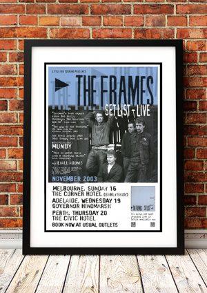 Frames 'Setlist Live' – Australian Tour 2003