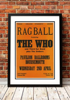 Who / Third Ear Band / The Embers – 'Ragball' Poole College Bournemouth UK 1969
