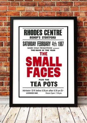 Small Faces / The Tea Pots – 'Rhodes Centre' Bishops Stortford UK 1967