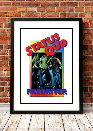 Status Quo 'Piledriver' In Store Poster 1972