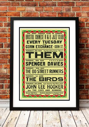 Them / Spencer Davis / The Byrds / John Lee Hooker – Bristol Chinese R & B Jazz Club 1965