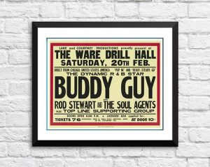 Buddy Guy / Rod Stewart And The Faces 'Ware Drill Hall' – Hertfordshire UK 1965
