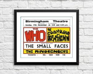 Who / The Small Faces – 'Birmingham Theatre' Birmingham UK 1968