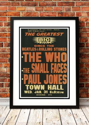 Who / The Small Faces / Paul Jones 'Town Hall' Auckland New Zealand 1968