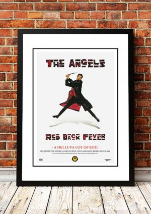 Angels (Angel City) 'Red Back Fever' In Store Poster 1990