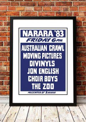 Australian Crawl / Divinyls / Choirboys 'Narara Music Festival' Australia 1983