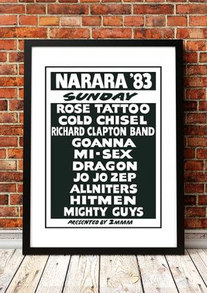 Rose Tattoo / Cold Chisel / Dragon / Mi-Sex 'Narara Music Festival' Australia 1983