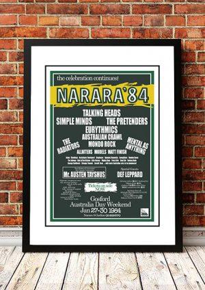 Talking Heads / Simple Minds / Pretenders 'Narara Festival' Narara, Australia 1984