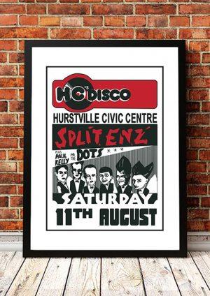 Split Enz / Paul Kelly And The Dots 'Hurstville Civic Centre' Sydney, Australia 1978