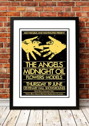Angels (Angel City) / Midnight Oil / Flowers / Models 'Centenary Hall Showgrounds' Melbourne, Australia 1980