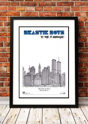 Beastie Boys 'To The 5 Boroughs' – In-Store Poster 2014