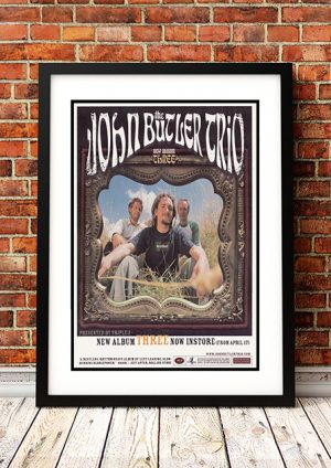 John Butler 'Three' – In-Store Poster 2001